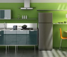 green kitchen colors theme for modern popular interior design