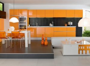 luxurious-modern-kitchen-orange-and-white-colors-trend-2017-kitchen-interior-design