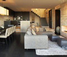 luxury apartment living rooms with dining all in one