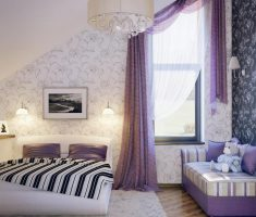 modern Purple Curtains for adult girl bedroom from attic Decorating