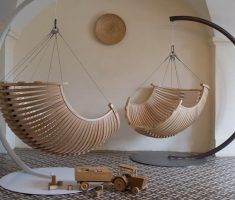 modern and elegant wood hanging chair for modern interior ceiling chair design ideas