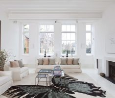 modern and fabulous luxury white living rooms design with buterfly carpet