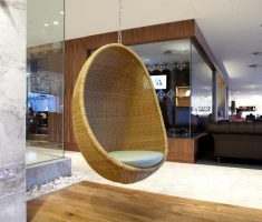 modern rattan hanging ceiling egg chair for charming interior design