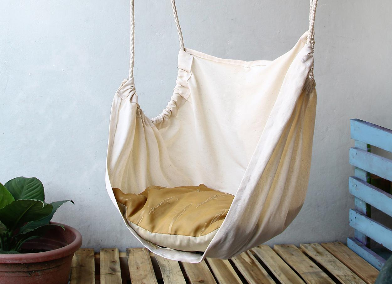 Hanging Chair In The Living Room