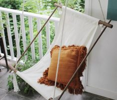 simple diy ceiling hanging chair outdoor