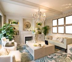 small Luxury Living Rooms design with ivory colors