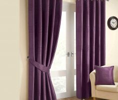 thick and solid Purple Curtains for Decorating