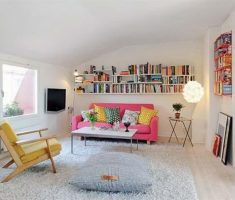 very neat clear and white apartment reading area decorating ideas
