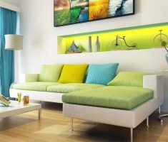 white and green pastel colors theme for trendy colors interior design ideas