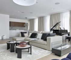 white and grey luxury apartment living rooms