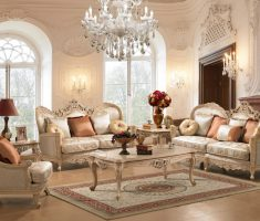 white ivory traditional luxury living rooms theme and chairs and white glass chandeliers