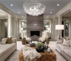white modern Luxury Living Rooms