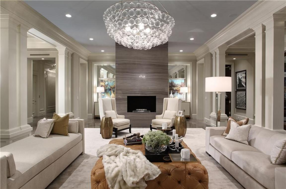 most luxury living rooms have monochromatic designs that very beautiful but sometimes to provide the space a lively look requires which you play with some - Most Luxurious Living Rooms