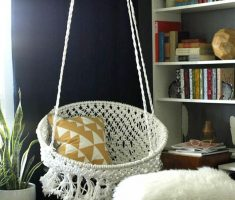 white round basket diy ceiling hanging chair for corner decor