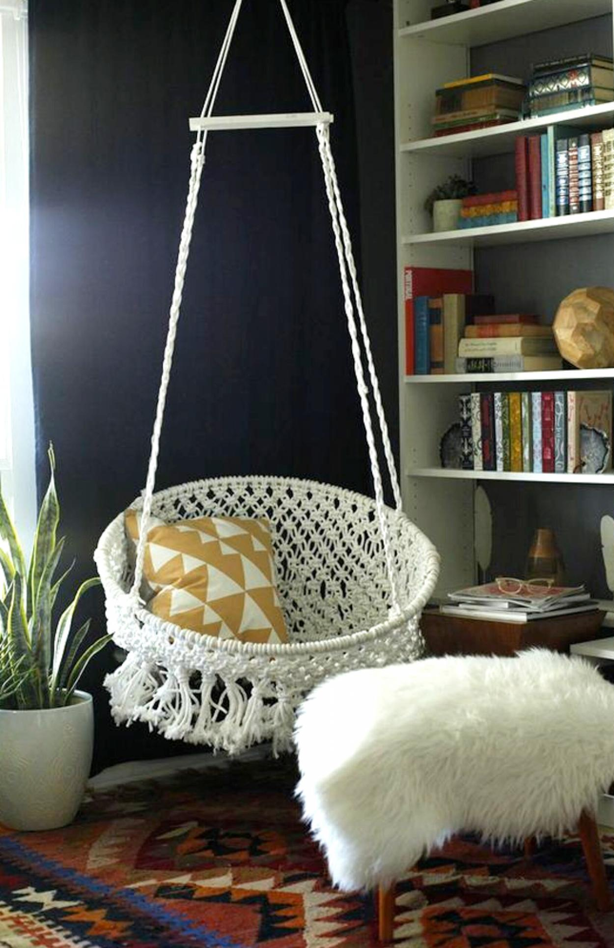 white-round-basket-diy-ceiling-hanging-chair-for-corner-decor