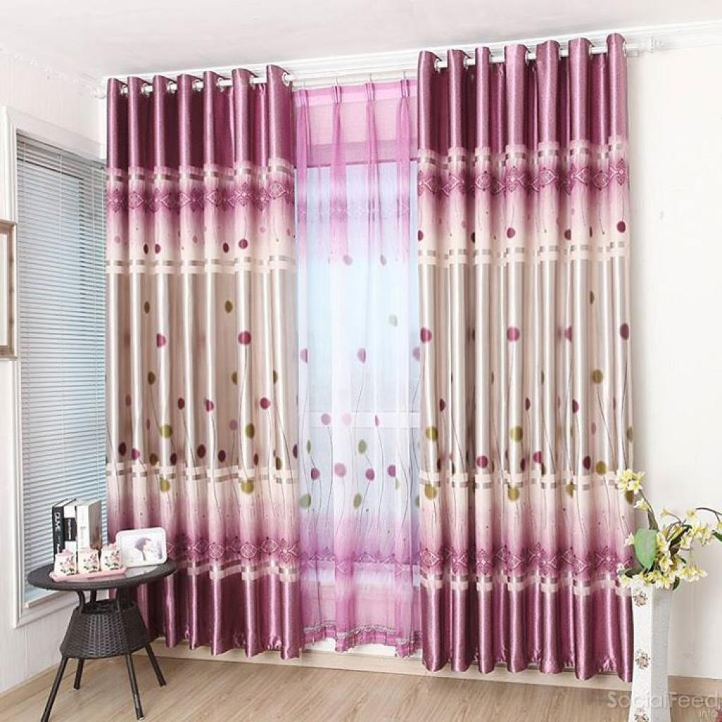 Lovely Purple Curtains For Decorating Design Ideas