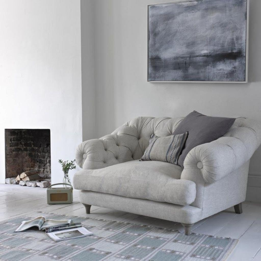 Adorable Light Grey TUfted Reading Chair Design for Grey Room Paint colors