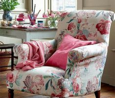 Beauty Floral Reading Chair Design
