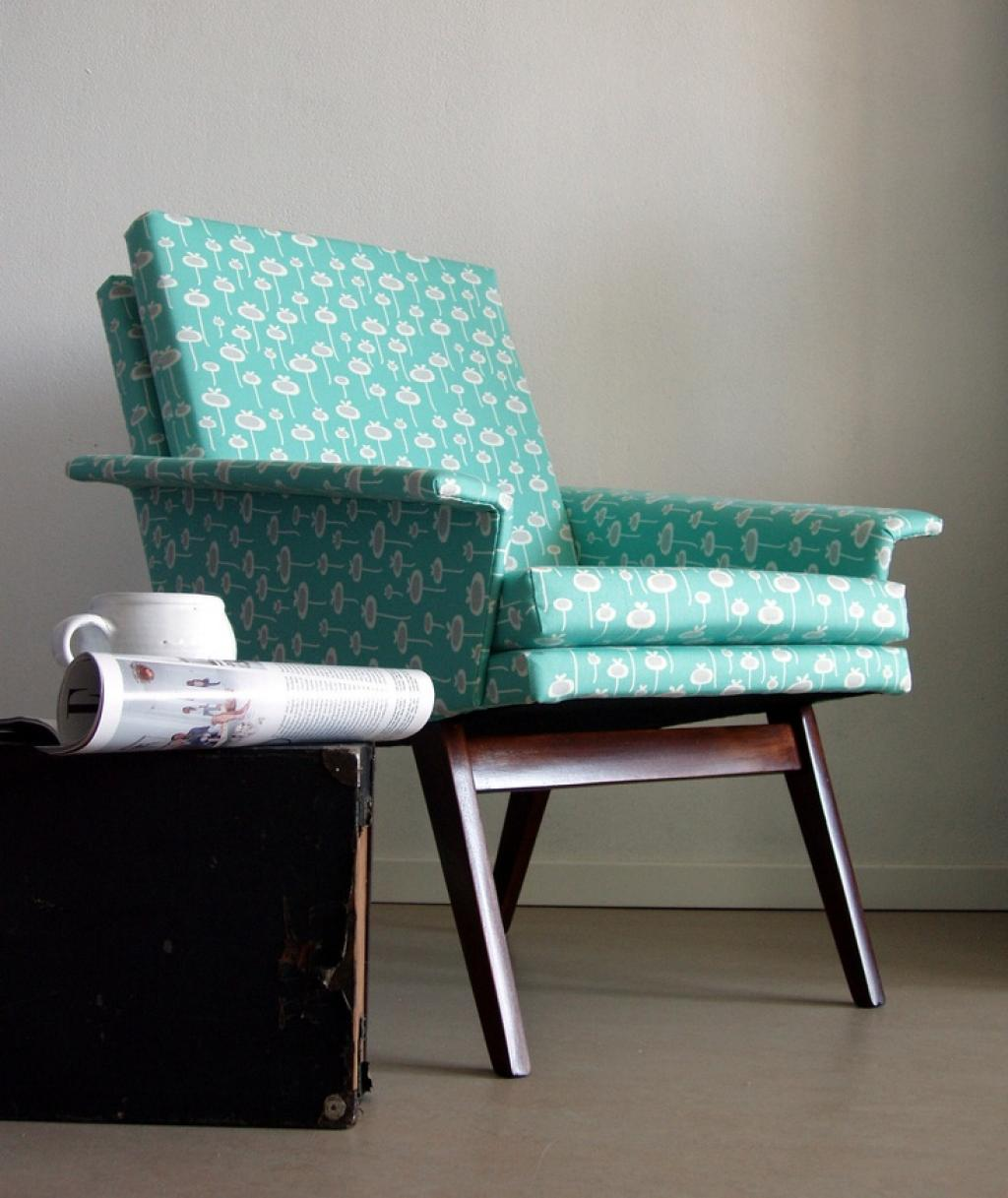 Blue Floral Reading Chair