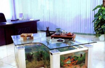 Coffee Table Aquarium L shaped