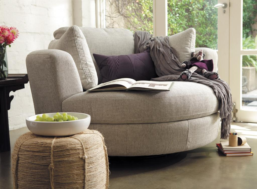 Comfortable Oversized Corner Reading Chair