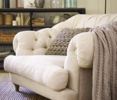 Comfy oversized Tufted Reading Chair