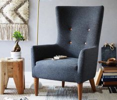 Cool Black Reading Chair High Back