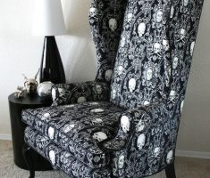 Cool Reading Chair Skull Pattern