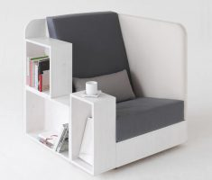 Creative Reading Chair with Bookcase and Bookshelv