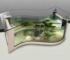 Creative Wave Coffee Table Aquarium Shape