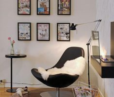 Modern Black Swan Chair for Corner Reading Chair