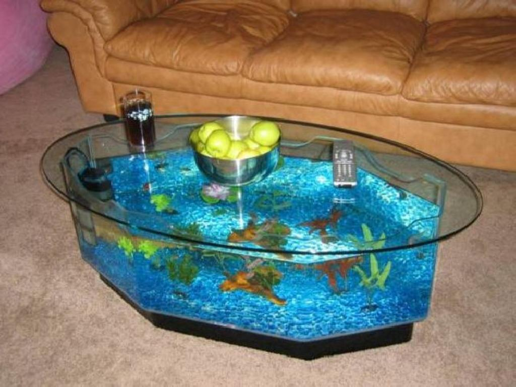 Fish tank coffee table uk custom built coffee table - Aquarium coffee table diy ...