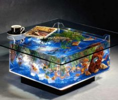 Simple Square Coffee Table Aquarium