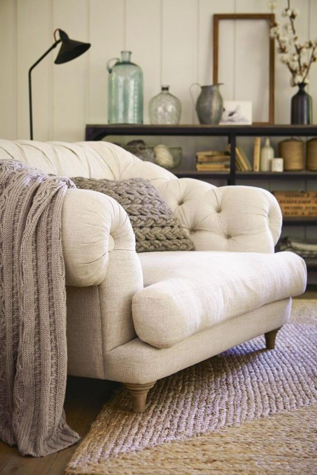 comfy Oversize White Reading Chair