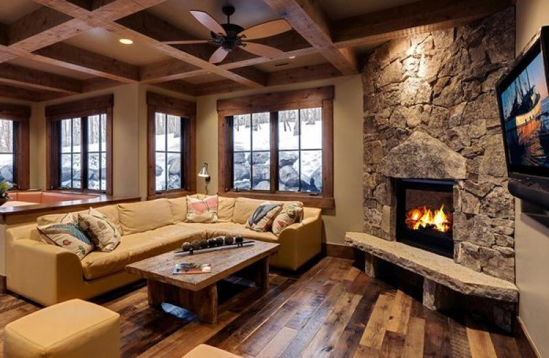 Best Fireplace Hearth Ideas Seating Space Rustic Style Living Room Wood Flooring