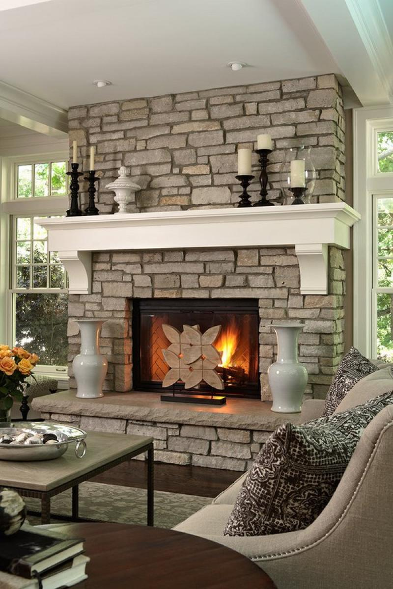 Best Fireplace Hearth Ideas Stone Fireplace White Wood Mantel