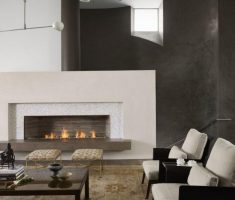 Best Modern Hearth Fireplace With Contemporary Living Room