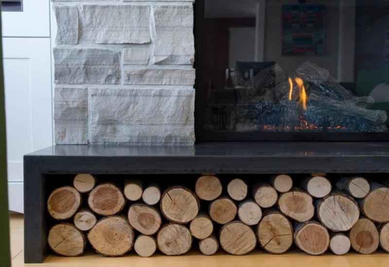 Best Polished Concrete Hearth Stone Fireplace Surround