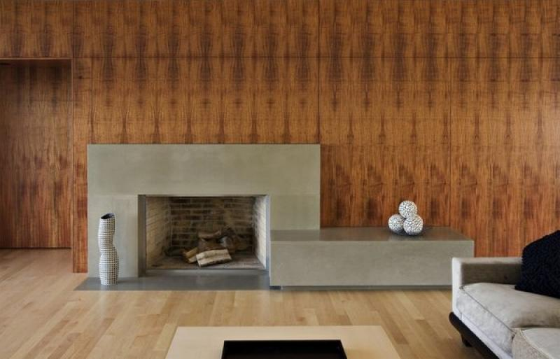 Best Simple Concrete Hearth Fireplace Design Ideas Contemporary Living Room