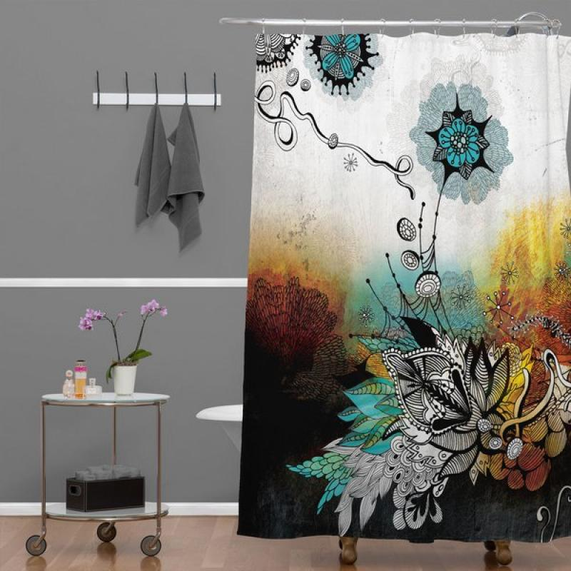 designer shower curtains that make a statement - Designer Shower Curtain Ideas