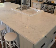 Best White Quartz Countertop Kitchen Island Kitchen Remodel
