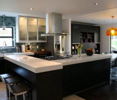 Best White Quartz Countertops Concrete Floors Acrylic Cabinets Subway Tile Backsplash