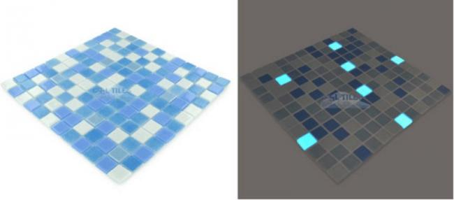 Awesome Pool, Glowing In The Dark Mosaic Tiles 6
