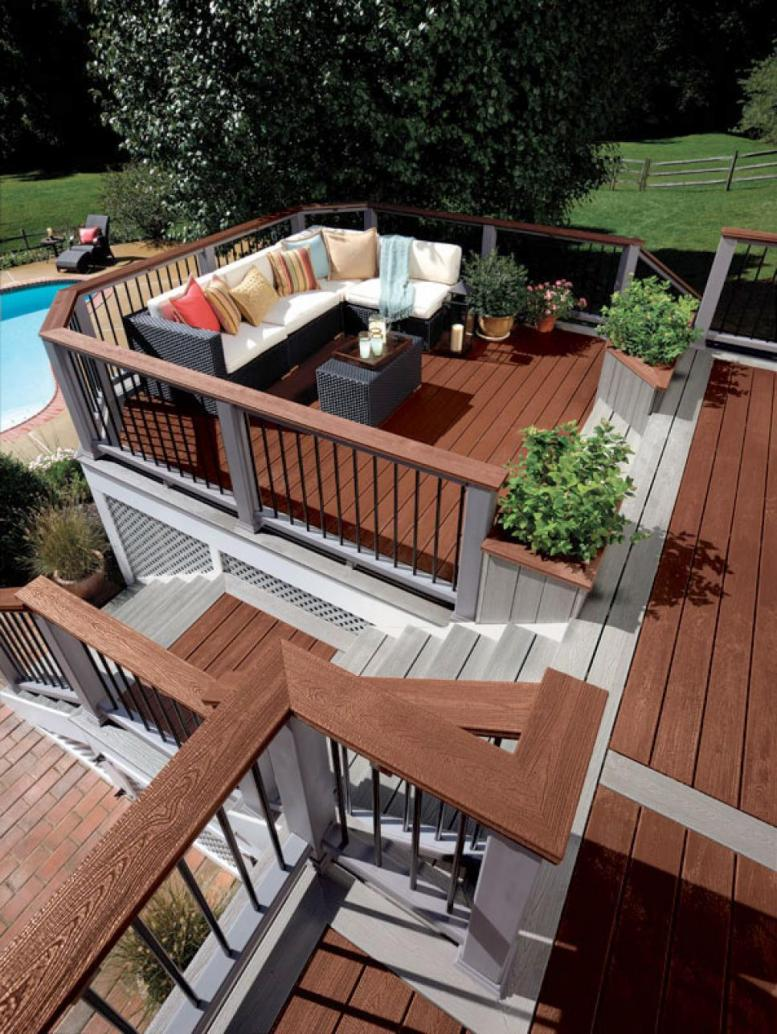 designing deck higher from the floor would eliminate dull impression and apartment in a large open area decks that are used as the entertaint is served