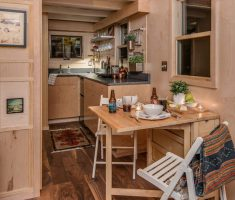 Riverside Tiny House dining table