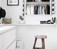 Fashionable And Stylish Interior With Minimalist Decorations Makeup Space Ideas