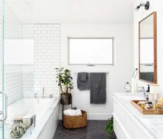 Beautiful White Monochrome Scandinavian Bathrooms 1