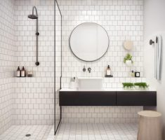 Beautiful White Monochrome Scandinavian Bathrooms 11