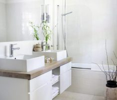 Beautiful White Monochrome Scandinavian Bathrooms 12