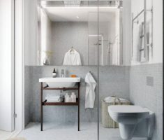 Beautiful White Monochrome Scandinavian Bathrooms 15